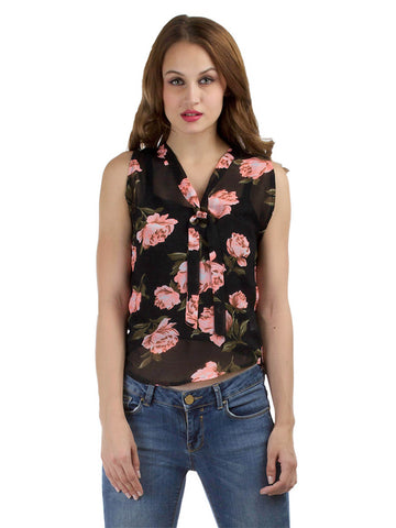 Fall Floral Sleeveless Top