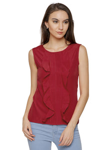 Amanda Frill Pin Tucks Top