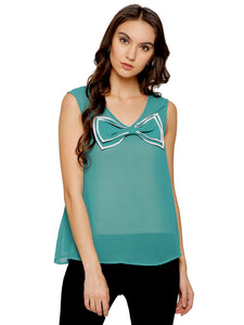 Adriana Colour Block Bow Top
