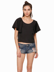 Maisie Flared Sleeve Crop Top