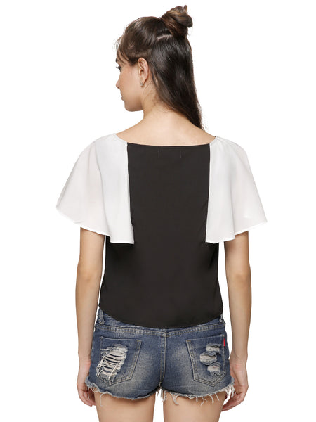 Maisie Monochrome Crop Top