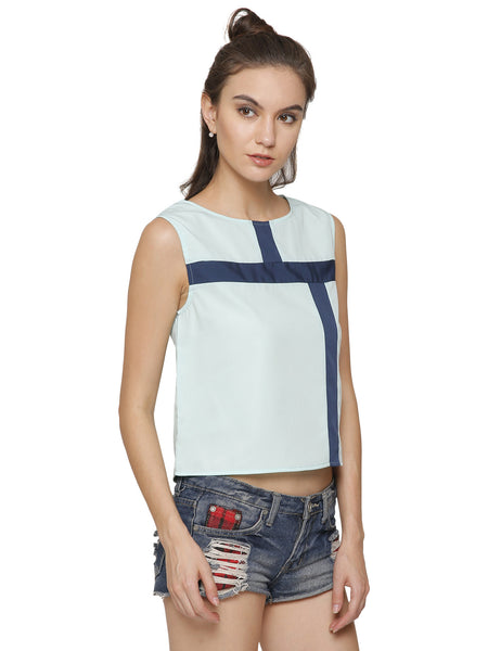 Square'Em Off Panelled Top
