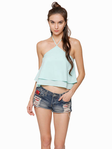 Poppy Halter Crop Top