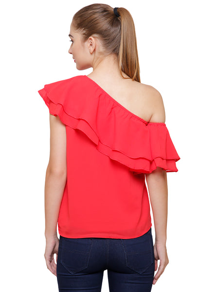 Sally One Shoulder Layered Top