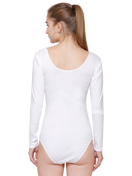 Kate White Full Sleeve Bodysuit