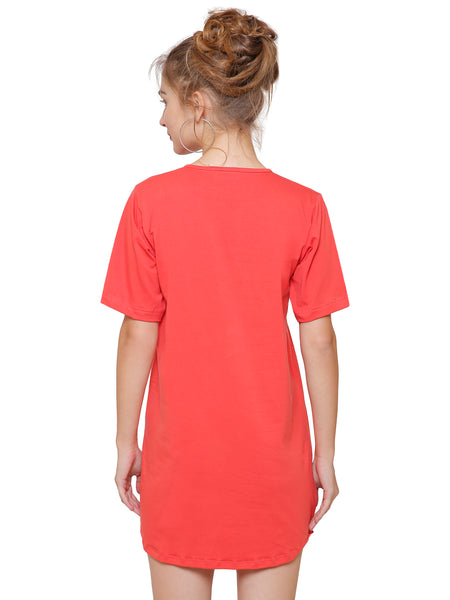 What Knot Red T-shirt Dress