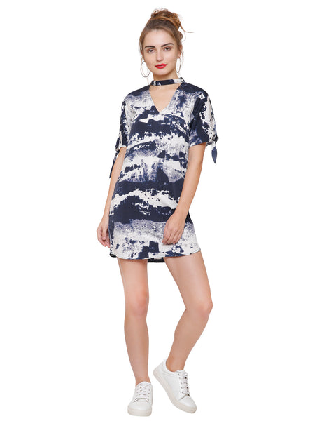 Amber Printed Casual Mini Dress