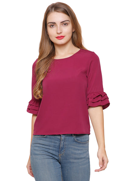 Carly Gathered Sleeve Top