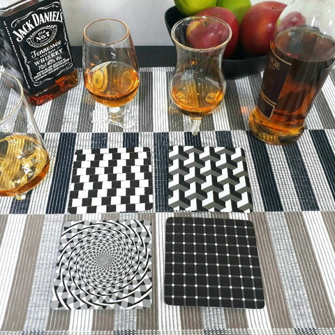 Art Deco Coaster - Optical Illusion