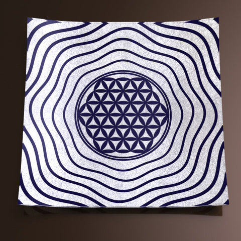 Glass Décor Plate - Flower of Life