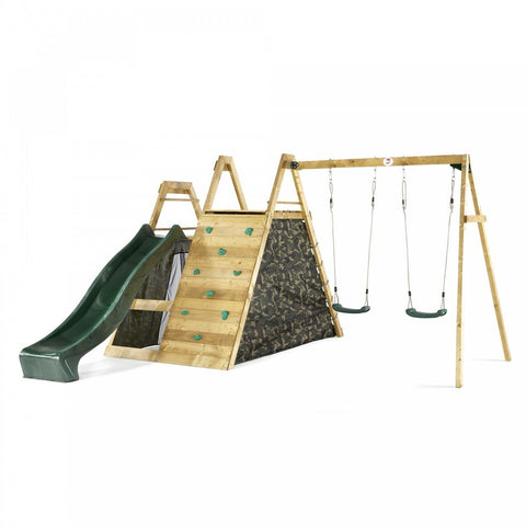 Plum Climbing Pyramid Wooden Climbing Frame with Swing Arm - Grand Gardens