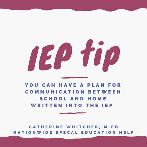 IEP TIP: Communication Plan