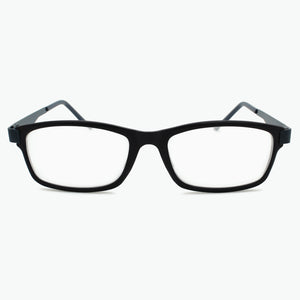 Dark BLUE Modern Rectangular Reading Glasses for Men