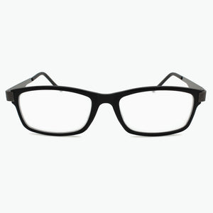 Matte Black Modern Rectangular Reading Glasses for Men