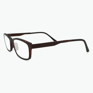 Tortoise Modern Rectangular Reading Glasses for Men Side View