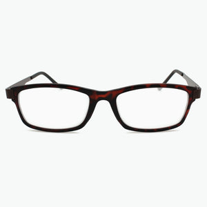 Tortoise Modern Rectangular Reading Glasses for Men