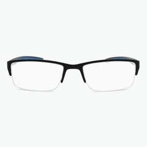 Sporty Reading Glasses for Men with BLUE temples