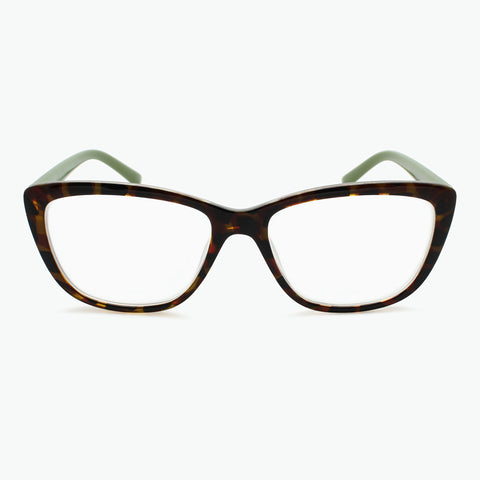 Colorful Tortoise Cateye Reading Glasses l Fully Magnified Lenses R-593