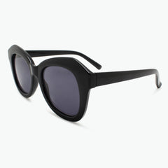 Black Oversized Reading Sunglasses for Women Fully Magnified with Gray Tinted Lenses Side view