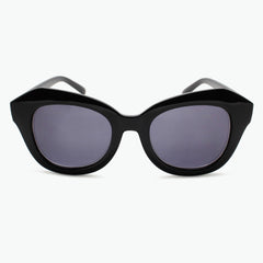 Black Oversized Reading Sunglasses for Women Fully Magnified with Gray Tinted Lenses