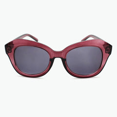 Burgundy Oversized Reading Sunglasses for Women Fully Magnified with Gray Tinted Lenses