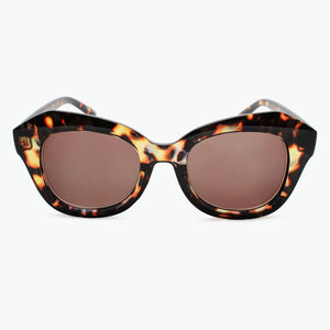 Brown Oversized Fashion Sun Readers Fully Magnified with Brown Tinted Lenses