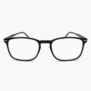 Matte Black Thin Rimmed Classic Square Reading Glasses