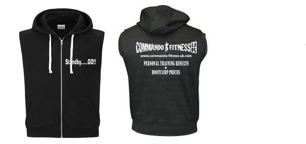 Commando Fitness Sleeveless Hoodie
