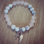 Marble Howlite and Rose Quartz Bracelet