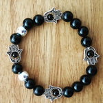 Hamsa and Black Onyx Bracelet