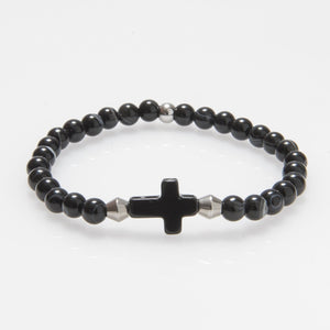 Agate Cross Bracelet