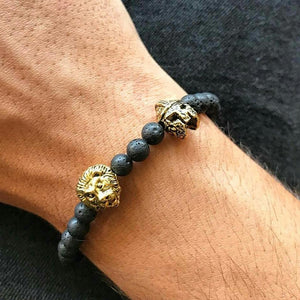 Spartan Warrior and Lion Head Bracelet