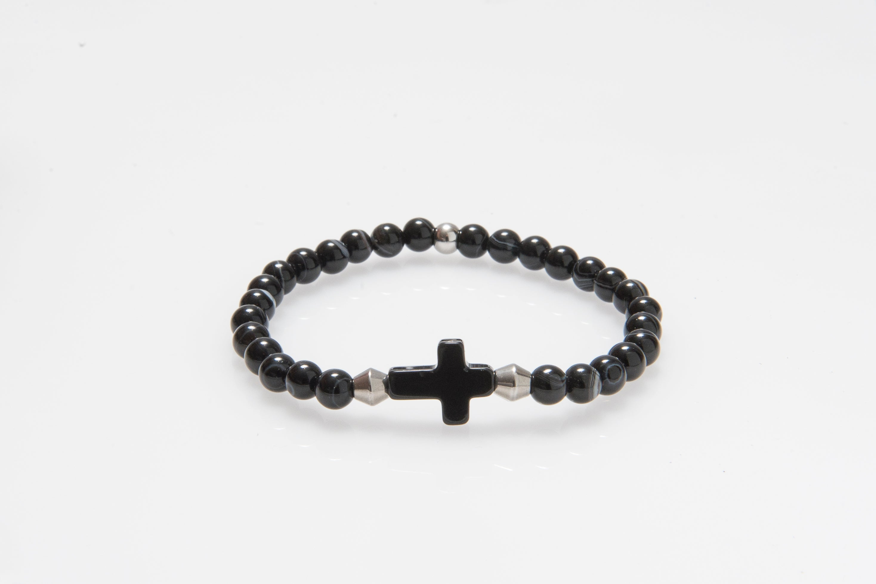 'Christ' Agate Cross Bracelet #296