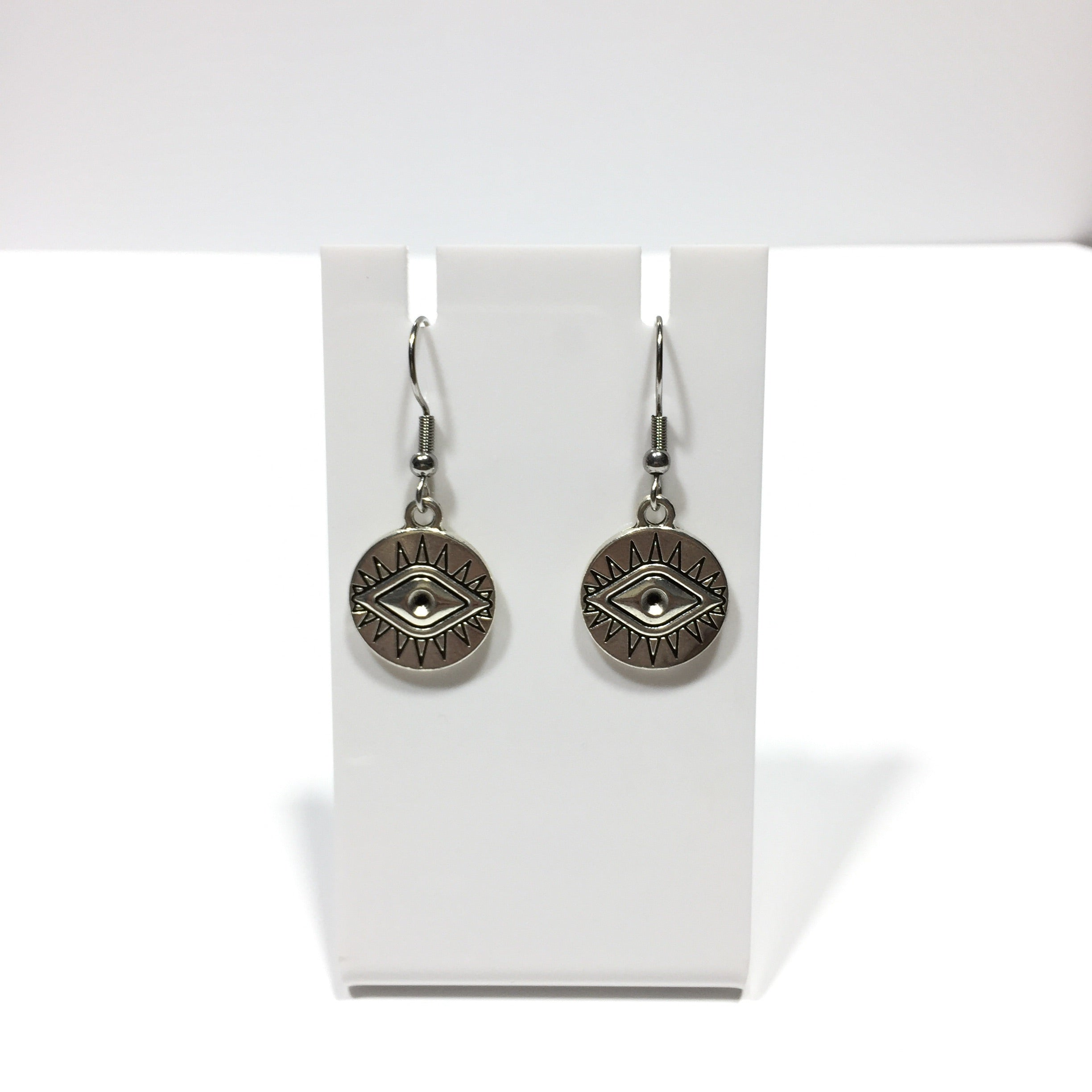 Eye of Protection Coin Earrings #446