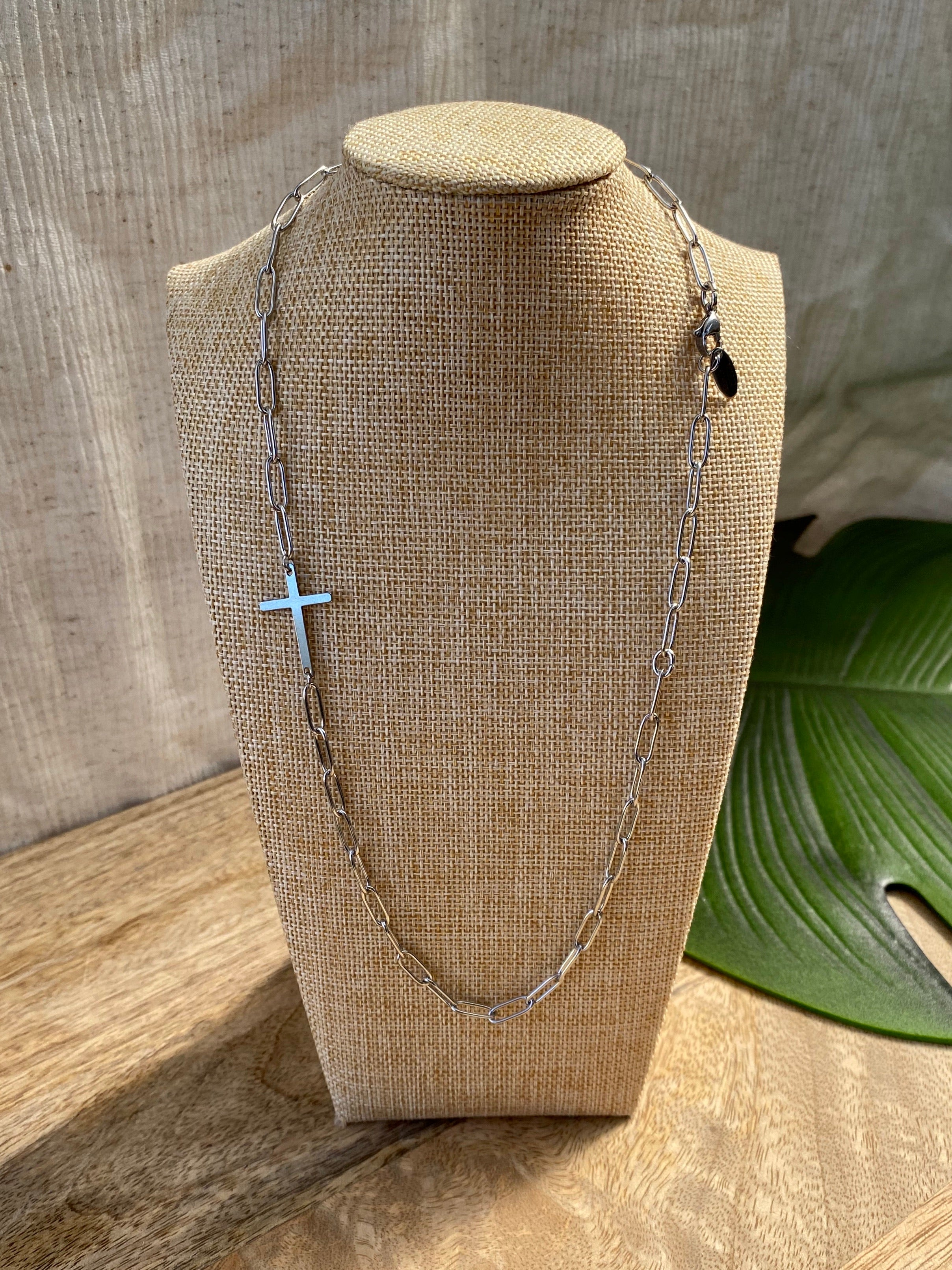 'Faith' Cross Stainless Steel Necklace #010