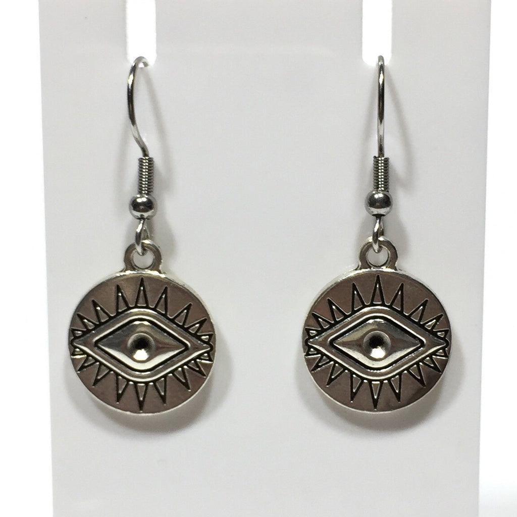 Eye of Protection Coin Earrings No. 48