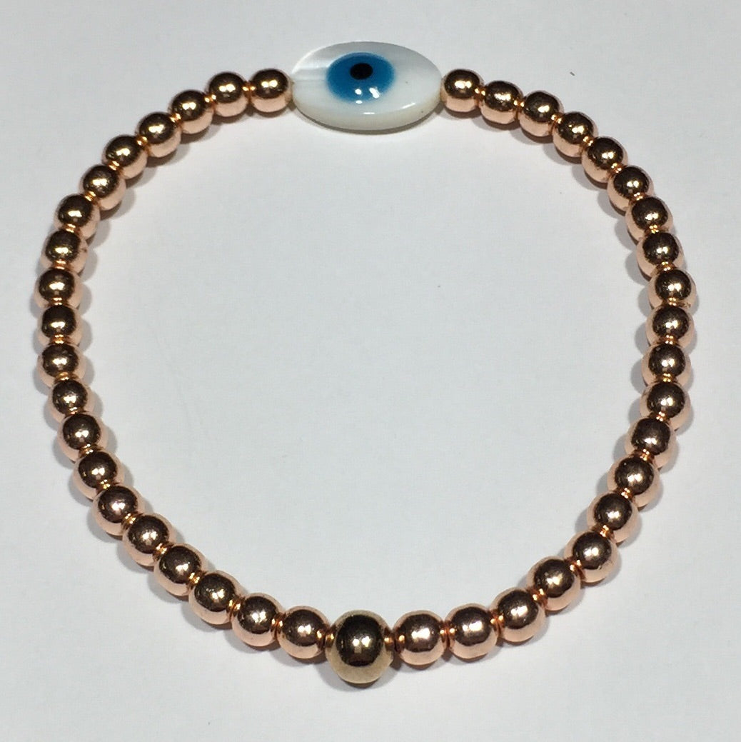 Shell Eye of Protection Rose Gold Bracelet #317