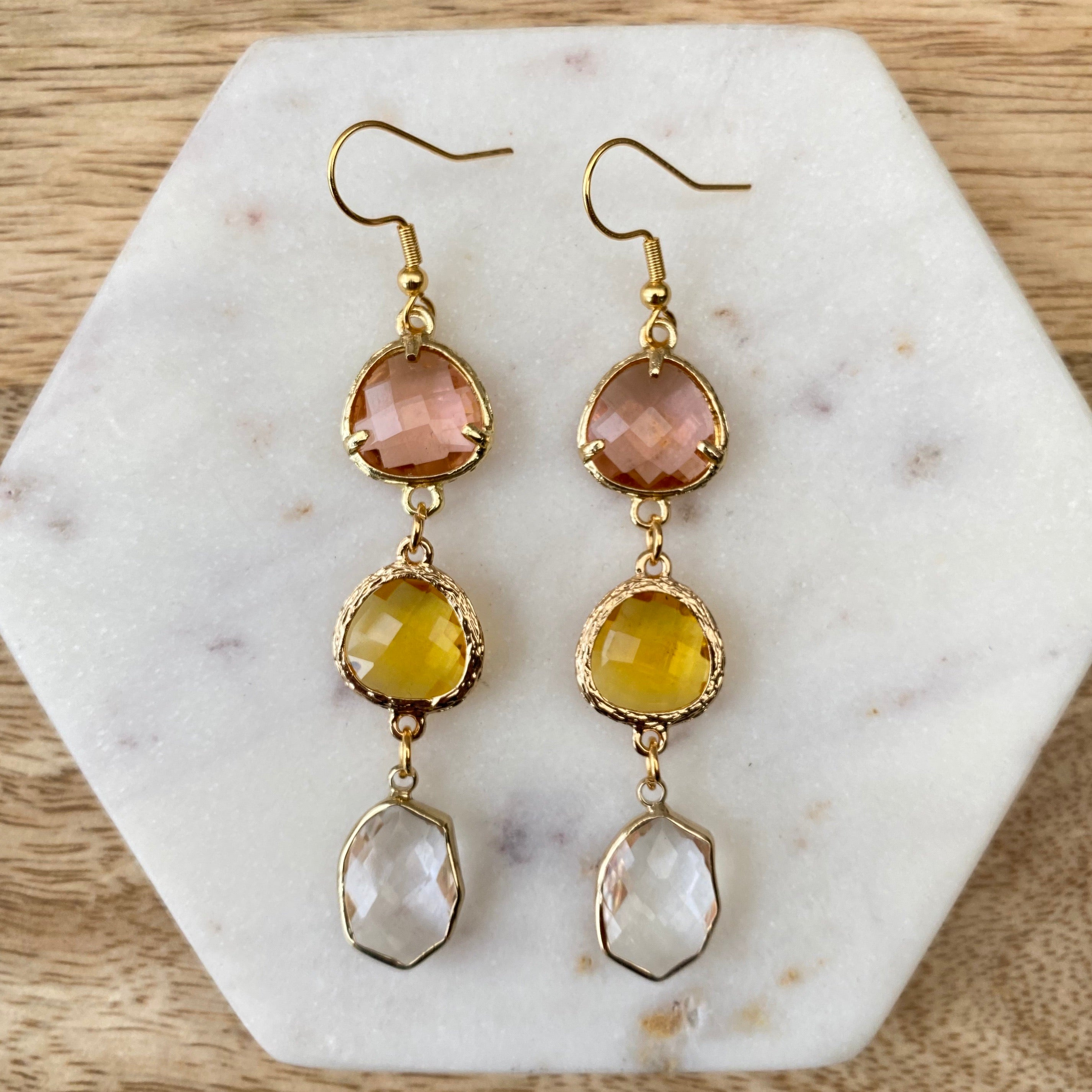 Aphrodite Crystal Drop Earrings
