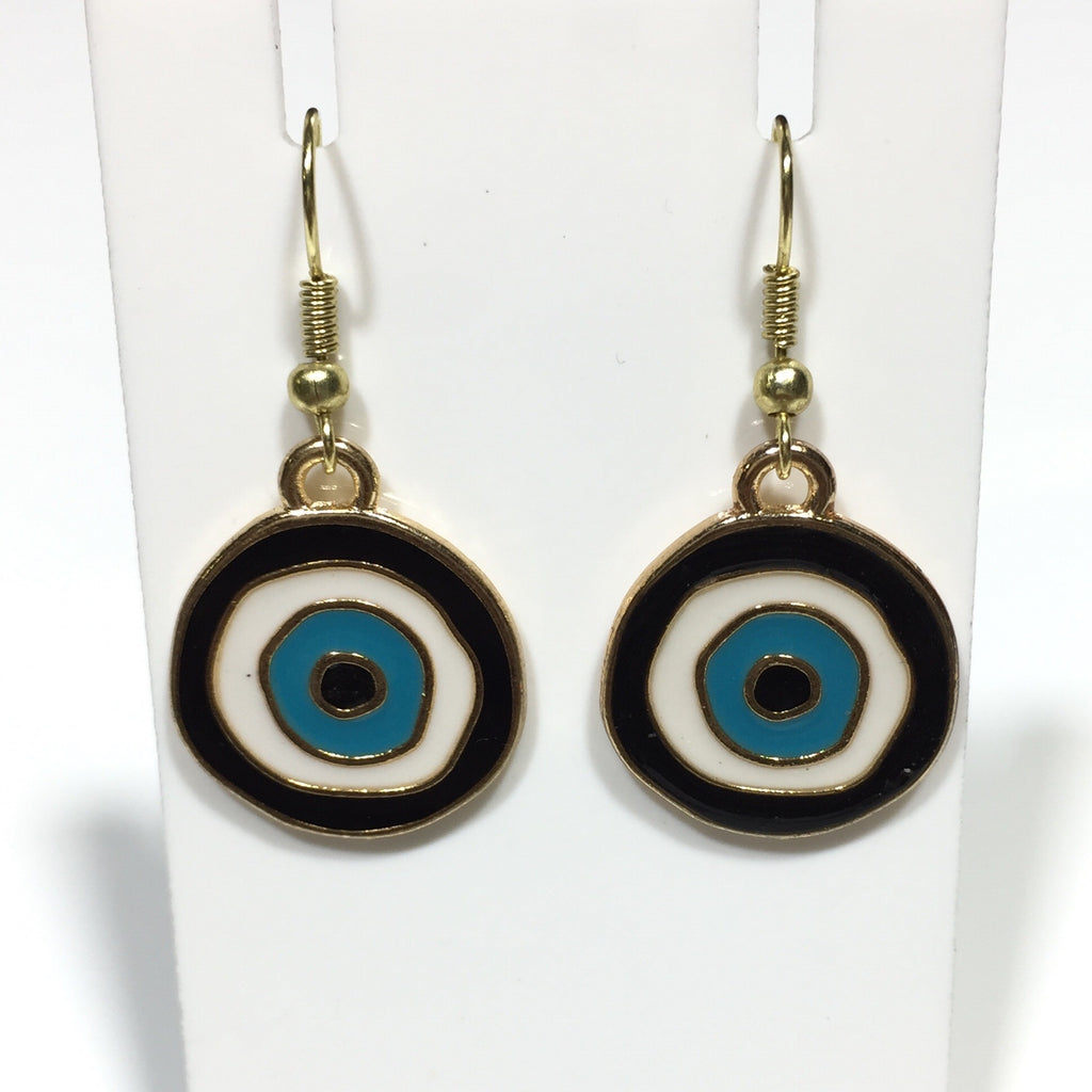 Enamel Eye of Protection Earrings No.51