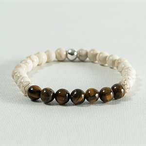 Howlite and Tiger Eye #260