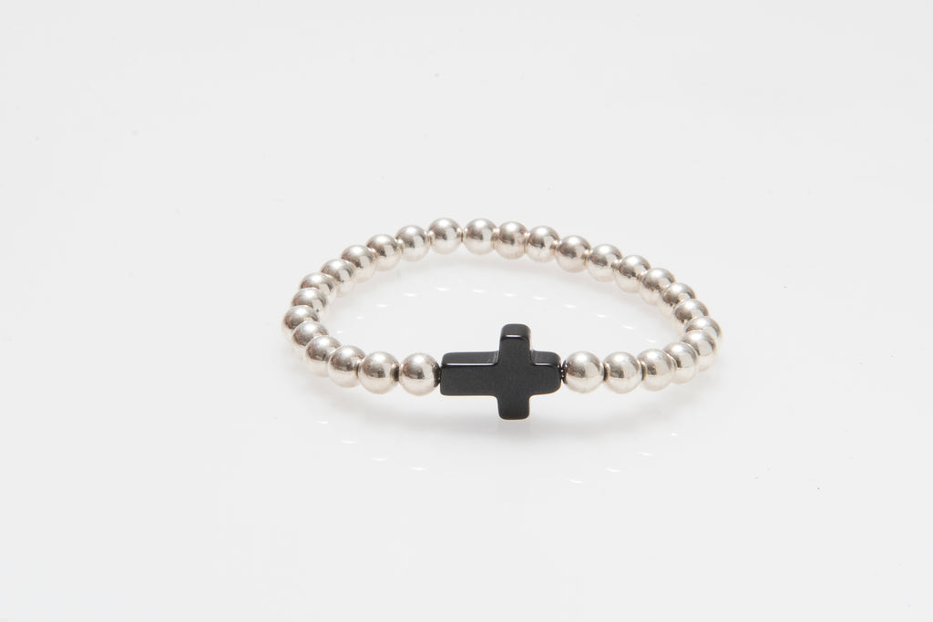'Angelica' Black Agate Cross