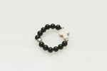 'Chrissy' Onyx Cross Ring
