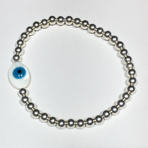 Shell Eye of Protection Silver Bracelet #307