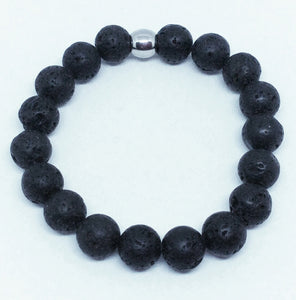 10mm Lava Rock Bracelet #338