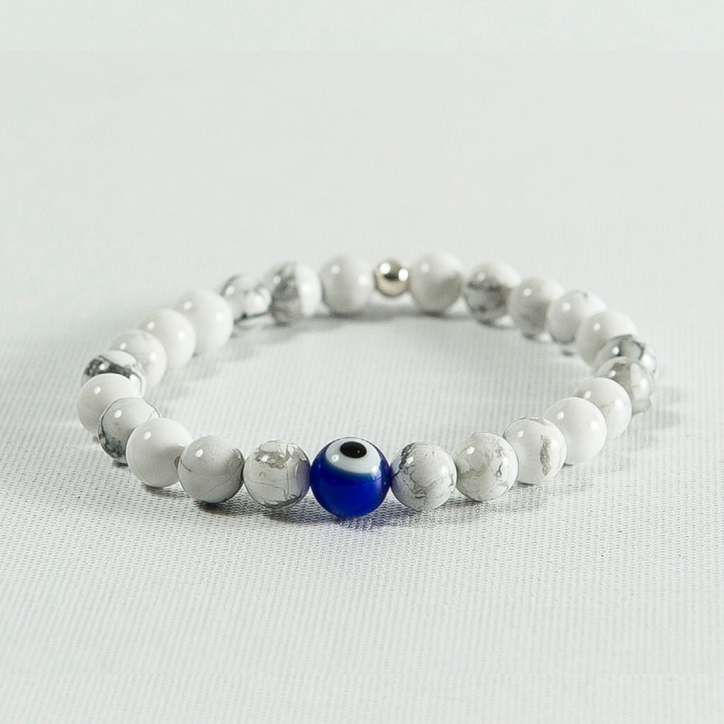 Evil Eye and Marble Howlite #428