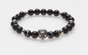 Stainless Steel Lion Agate