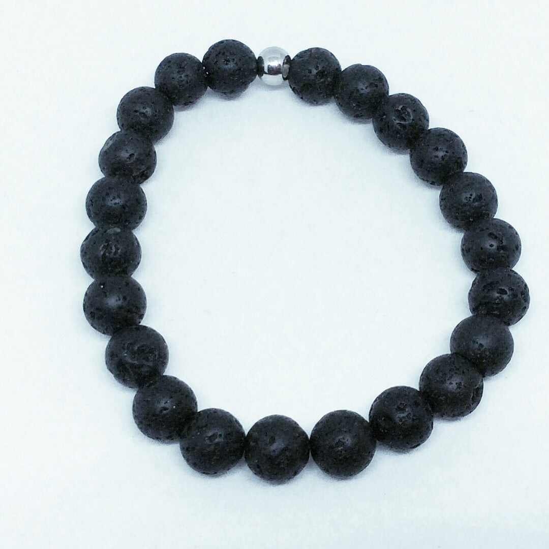 8mm Lava Rock Bracelet #340