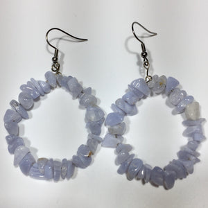 Blue Lace Agate Earrings No.59