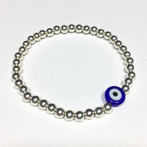 'Hera' Eye of Protection Silver Bracelet #100