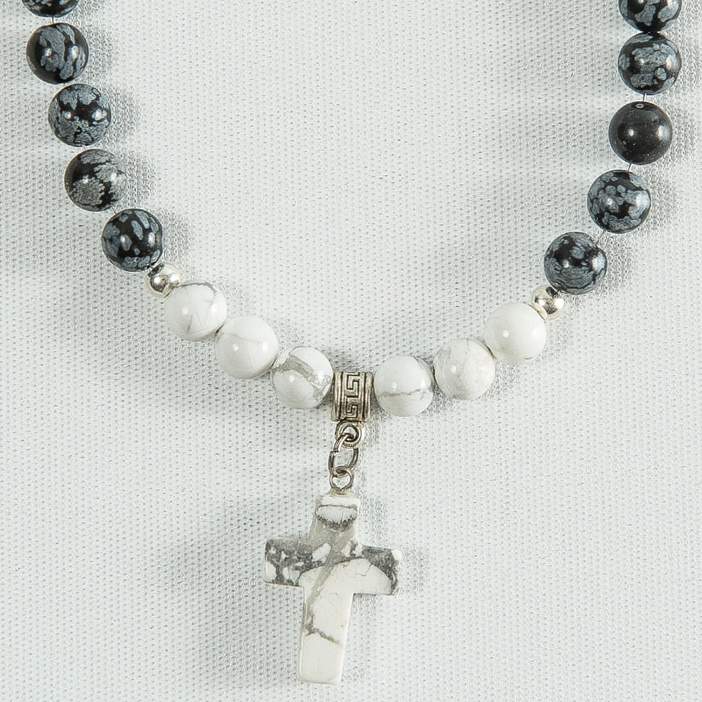 Marble Cross Necklace